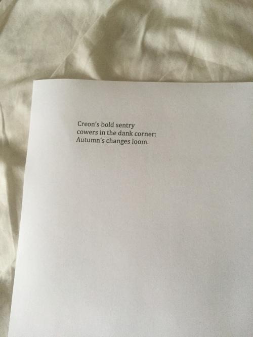 Creon's bold sentry
